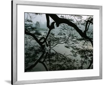 Tortoise Tower in Hoan Kiem Lake Has Become Symbol for Hanoi, Hanoi, Vietnam-Stu Smucker-Framed Photographic Print