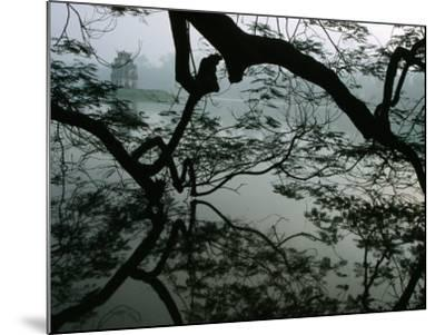 Tortoise Tower in Hoan Kiem Lake Has Become Symbol for Hanoi, Hanoi, Vietnam-Stu Smucker-Mounted Photographic Print