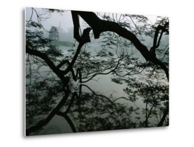 Tortoise Tower in Hoan Kiem Lake Has Become Symbol for Hanoi, Hanoi, Vietnam-Stu Smucker-Metal Print