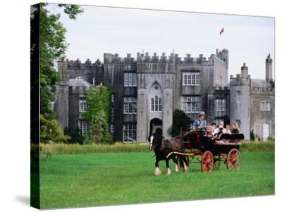 Horse Carriage with Birr Castle Demesne, Ireland-Holger Leue-Stretched Canvas Print