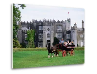 Horse Carriage with Birr Castle Demesne, Ireland-Holger Leue-Metal Print