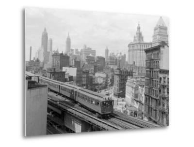 Third Avenue EL, New York, New York-John Lindsay-Metal Print