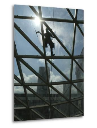 Roof Cleaning, Warsaw, Poland--Metal Print
