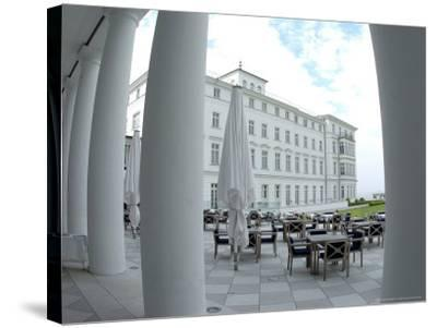 G8 Summit, Haus Mecklenburg of the Kempinski Grand Hotel, Germany-Frank Hormann-Stretched Canvas Print
