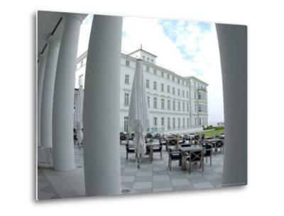 G8 Summit, Haus Mecklenburg of the Kempinski Grand Hotel, Germany-Frank Hormann-Metal Print