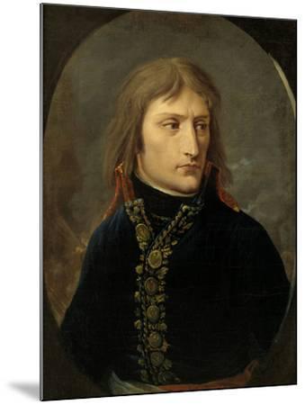Napoleon Bonaparte as General, c.1796-Baron Louis Albert Bacler D'albe-Mounted Giclee Print