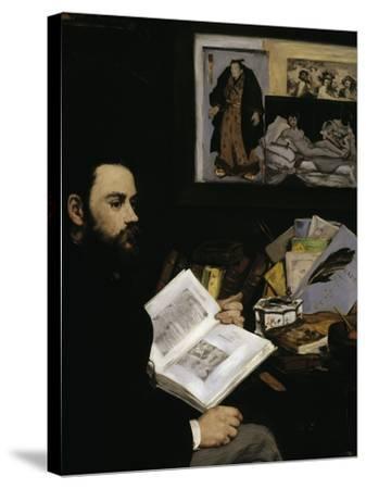 Emile Zola, c.1868-Edouard Manet-Stretched Canvas Print