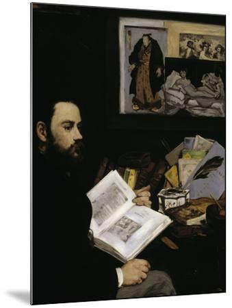 Emile Zola, c.1868-Edouard Manet-Mounted Giclee Print