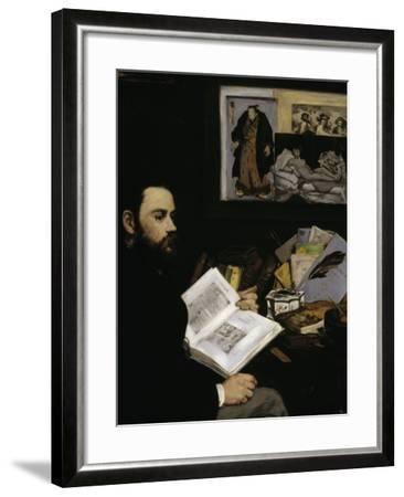Emile Zola, c.1868-Edouard Manet-Framed Giclee Print