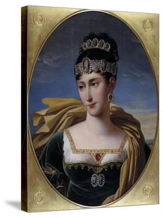 Pauline, Princess Borghese, c.1809-Robert Lefevre-Stretched Canvas Print