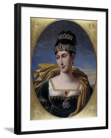 Pauline, Princess Borghese, c.1809-Robert Lefevre-Framed Giclee Print