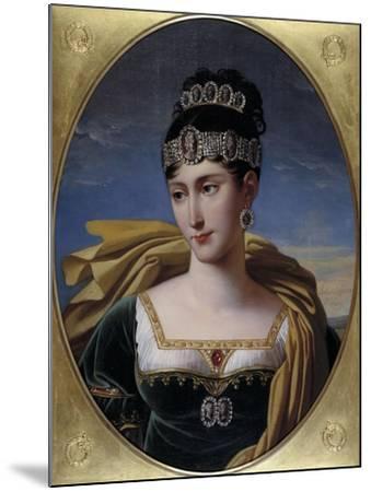 Pauline, Princess Borghese, c.1809-Robert Lefevre-Mounted Giclee Print