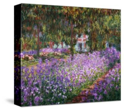 The Artist's Garden At Giverny, c.1900-Claude Monet-Stretched Canvas Print