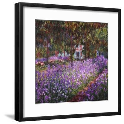 The Artist's Garden At Giverny, c.1900-Claude Monet-Framed Premium Giclee Print