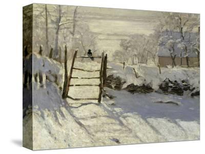 The Magpie, c.1869-Claude Monet-Stretched Canvas Print
