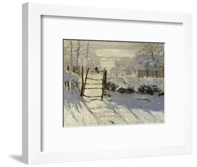 The Magpie, c.1869-Claude Monet-Framed Giclee Print