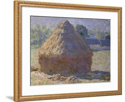 Haystack, Late Summer, c.1891-Claude Monet-Framed Giclee Print