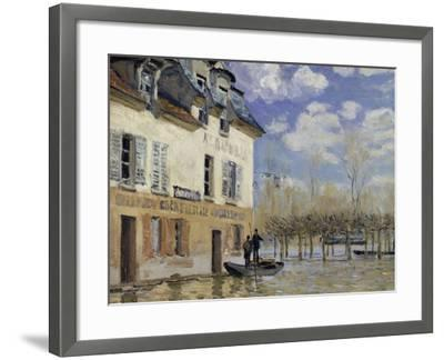 La Barque During the Flood at Port-Marly, c.1876-Alfred Sisley-Framed Giclee Print