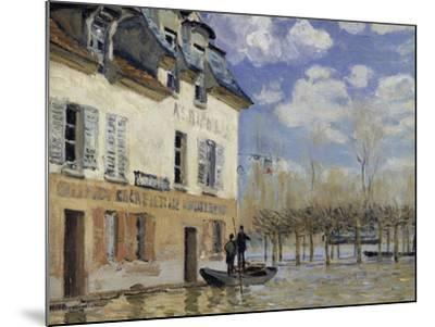 La Barque During the Flood at Port-Marly, c.1876-Alfred Sisley-Mounted Giclee Print