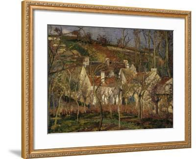 The Red Roofs, c.1877-Camille Pissarro-Framed Giclee Print