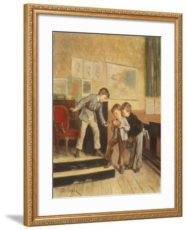 Filling the Inkwells-Theophile E. Duverger-Framed Giclee Print