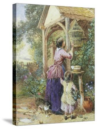 The Bird Cage-Myles Birket Foster-Stretched Canvas Print