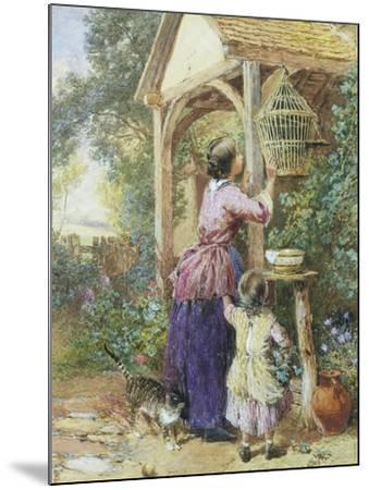 The Bird Cage-Myles Birket Foster-Mounted Giclee Print