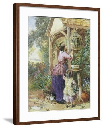 The Bird Cage-Myles Birket Foster-Framed Giclee Print