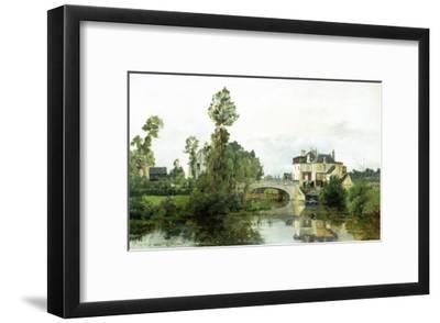 Fishing on the Lake-Charles Leslie-Framed Giclee Print