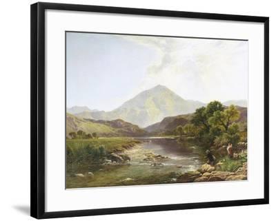 Moel Hebog from the Stepping Stone-Henry John Boddington-Framed Giclee Print