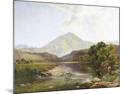 Moel Hebog from the Stepping Stone-Henry John Boddington-Mounted Giclee Print