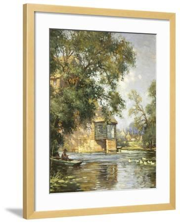 The Mill Pond, Houghton, Huntingdonshire-William Blacklock-Framed Giclee Print
