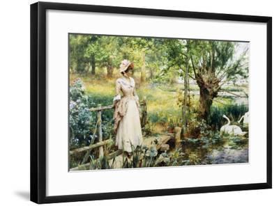 Reverie by the River-Alfred Augustus Glendenning-Framed Giclee Print