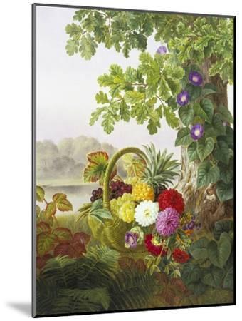 Dahlias, Asters and Morning Glory-Johan Laurentz Jensen-Mounted Premium Giclee Print
