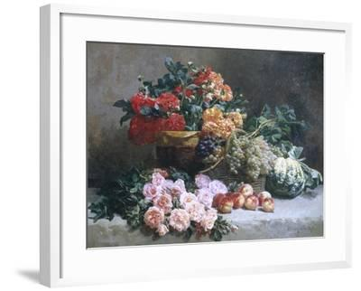 Rich Still Life of Fruit and Flowers-Pierre Bourgogne-Framed Giclee Print