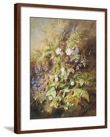 Wild Strawberries and a Butterfly-Albert Lucas-Framed Giclee Print