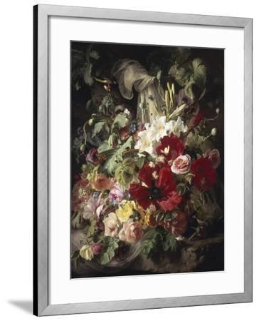 Still Life of Lilies, Poppies and Roses-Theud Gronland-Framed Giclee Print