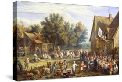 Village Feast-Constantin Coene-Stretched Canvas Print