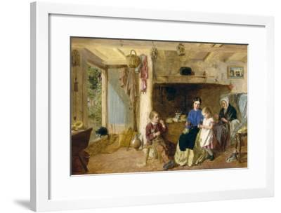 Helping Mother-G. W. Brownlow-Framed Giclee Print