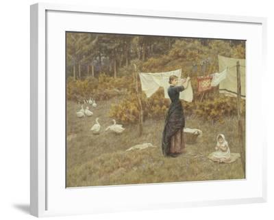 Hanging the Washing-Helen Allingham-Framed Giclee Print