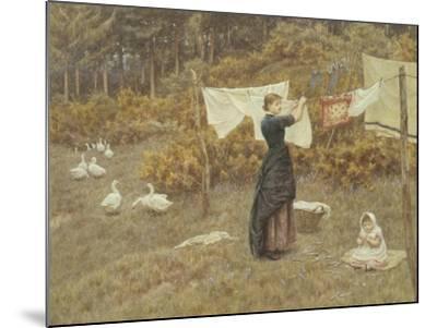 Hanging the Washing-Helen Allingham-Mounted Giclee Print