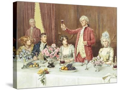 The Toast, the Ladies, God Bless 'Em-George Goodwin Kilburne-Stretched Canvas Print