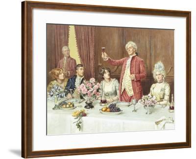 The Toast, the Ladies, God Bless 'Em-George Goodwin Kilburne-Framed Giclee Print