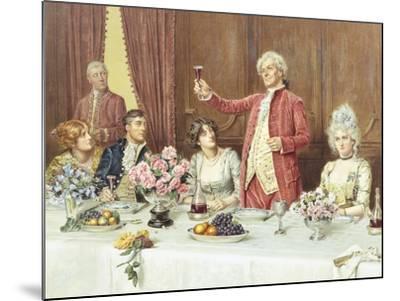 The Toast, the Ladies, God Bless 'Em-George Goodwin Kilburne-Mounted Giclee Print