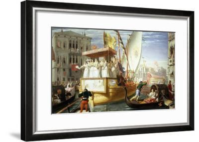 The Brides of Venice Being Taken to the Wedding, c.1528-John Rogers Herbert-Framed Giclee Print