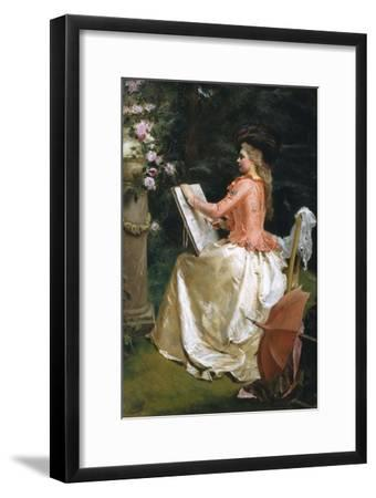 The Artist in the Garden-Gustave Jean Jacquet-Framed Giclee Print