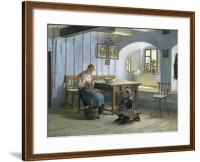 Making Apple Pie-Gustav August Hessl-Framed Giclee Print