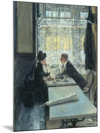 Lovers in a Cafe-Gotthardt Johann Kuehl-Mounted Giclee Print