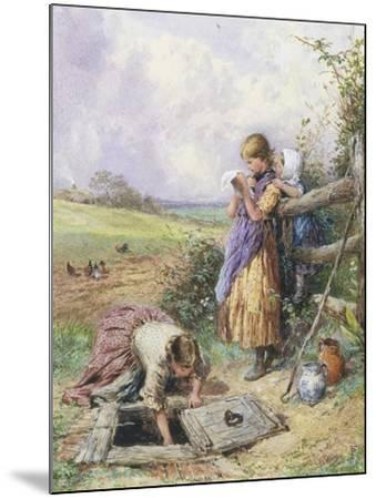 Reading by the Well-Myles Birket Foster-Mounted Giclee Print