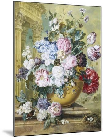 Still Life of Roses, Delphiniums and Tulips-Jacobus Linthorst-Mounted Giclee Print